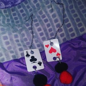 Jewelry - Playing card earrings